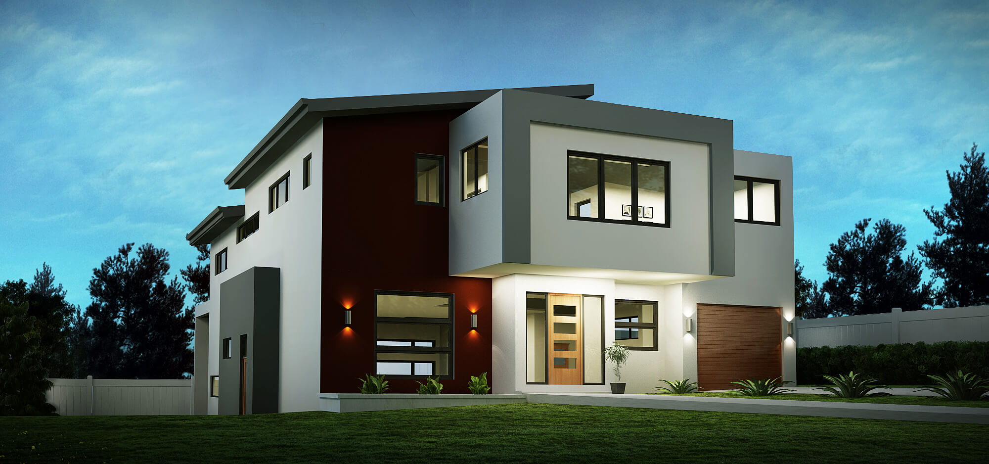 Sloping house block designs custom home designs Custom home designs